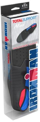 Spenco, Solette sportive Total Support Premium Insoles MAX, Nero (schwarz - schwarz), 9-10, taglia UK