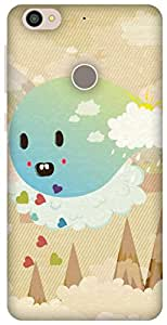 The Racoon Grip printed designer hard back mobile phone case cover for Letv Le 1s. (Cuteness O)