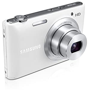Samsung ST150 - SMART WiFi Digital Camera - 16.2MP CCD Sensor, 5x Optical Zoom, 720p HD Video Recording and 3-inch LCD Display - White (Certified Refurbished)