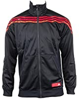 Mens Adidas SF Navy Blue TT Track Top Jacket Retro Polyester Coat Full Zip Style