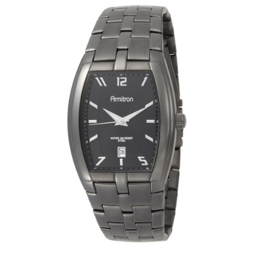 Armitron Men's 204368BKDG Dark Gray Stainless Steel Analog Dress Watch