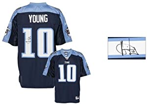 Tennessee Titans Vince Young Signed Jersey - Memories - Mounted Memories Certified by Sports Memorabilia