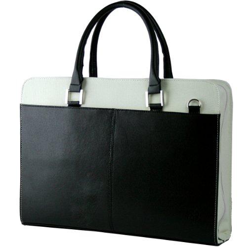 DIABLO ディアブロ ビジネスバッグ メンズ 牛革 帆布 2WAYバッグ ブラック×ホワイト 【KA-306】 [ウェア&シューズ]