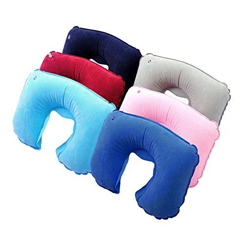 Mia's Schatz Aufblasbare weiches Kissen Massagegerät U-Form Nackenstütze Kompakte Luftpolster Flugzeug Luft Kissen