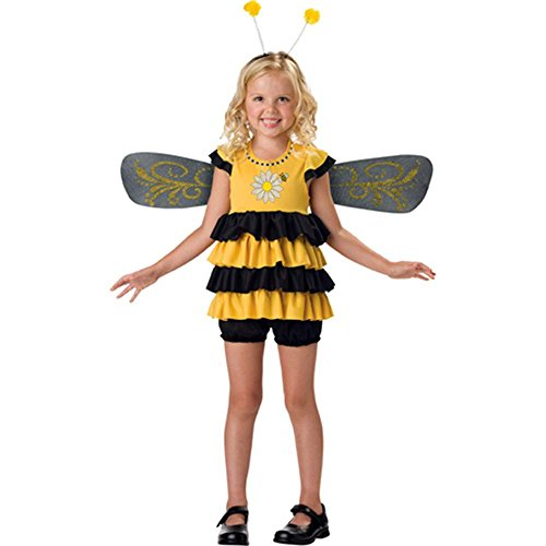 InCharacter Costumes, LLC Girls 2-6X Sweet Bee Dress Set, Yellow/Black, Small