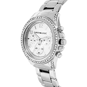 Mens Ladies Bling Fashion Watch - Crystal Set Bezel - Silver Plated + Gift Bag