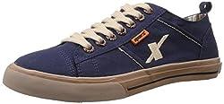 Sparx Men's Blue Canvas Sneakers - 9 UK (SC0130G)