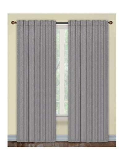 Cay Trading Set of 2 Dainty Home Portofino Backtab Blackout Window Panels, Silver/Gray