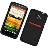 Eagle Cell SCHTCEVOONES01 Barely There Slim and Soft Skin Case for HTC Evo 4G LTE/Evo One - Retail Packaging - Black