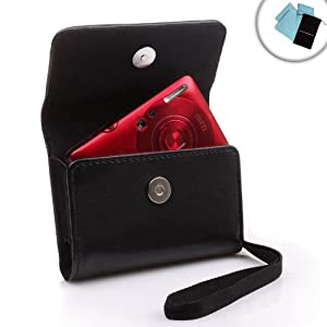 USA GEAR Premium Leatherette Camera Case for Samsung DV150F , ST150F , DV300F , ST76 , WB30F , MV900F , MV800F , ST200F , ST66 , ST77 , ST68 , TL205 , PL200 & Many More!! **Includes Accessory Bag and Cleaning Cloth**