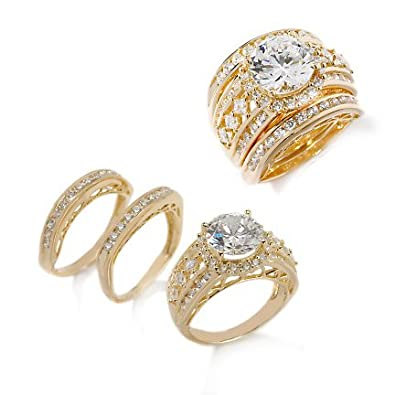 Wedding rings for beautiful women Cheap three piece wedding ring sets