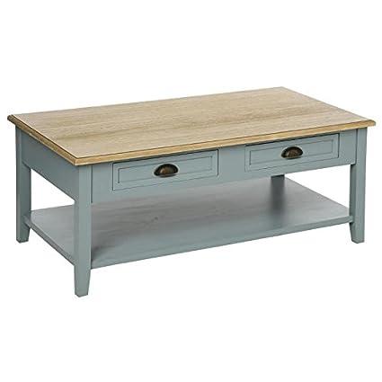 Table basse campagne 4 tiroirs en bois gris Damian (L.110xl.60xH.45cm)
