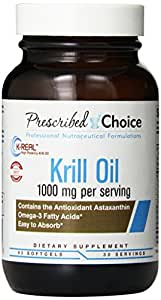 Prescribed Choice 100% Antarctic Krill Oil Softgels,1000 mg, 60 Count