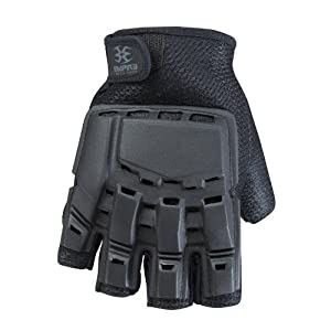 Empire BT THT Hard Back Fingerless Gloves - Black - Large / X-Large