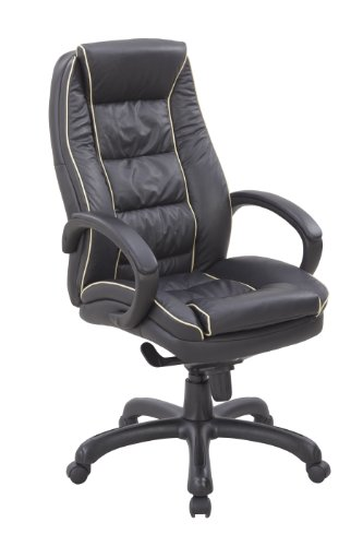 eliza tinsley 609ktag lbk fauteuil de bureau rev tement cuir grand dossier contraste passepoil. Black Bedroom Furniture Sets. Home Design Ideas