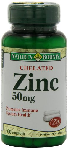 Bounty Chelated zinc (gluconate de zinc) de 50 mg