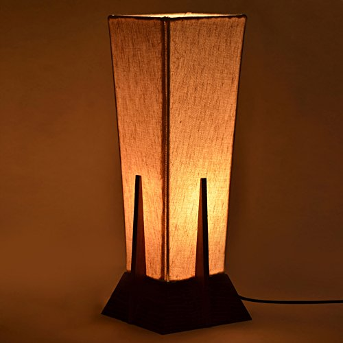 ExclusiveLane 14Inch Pyramid/ Decorative Table Lamp In Sheesham Wood - Gift Item