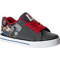 ディーシー DC Court Graffik Vulc WG Skate Shoe - Boys' Grey Red アウトドア キッズ 子供 男の子 ブーツ 靴 シューズ 並行輸入