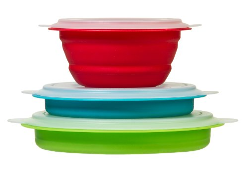 Prepworks by Progressive Collapsible Prep/Storage Bowls with Lids - Set of 3 (Collapsible Storage Containers compare prices)