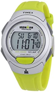 Timex Men's T5K612 Ironman Traditional 10-Lap Yellow-Green Resin Strap Watch