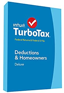 TurboTax Deluxe 2014 Fed + Fed Efile Tax Software + Refund