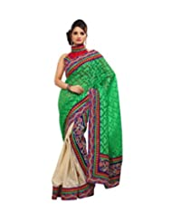 Triveni Divine Jute Silk Border Worked Festive Saree 8357a