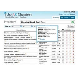 ScholAR Online Chemical Inventory Database, 1-Year Subscription