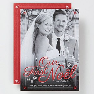 Personalized Photo Christmas Card - First Noel - Baby & Wedding front-1012383