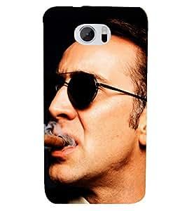 PRINTSHOPPII NICOLAS CAGE FAN Back Case Cover for HTC M10