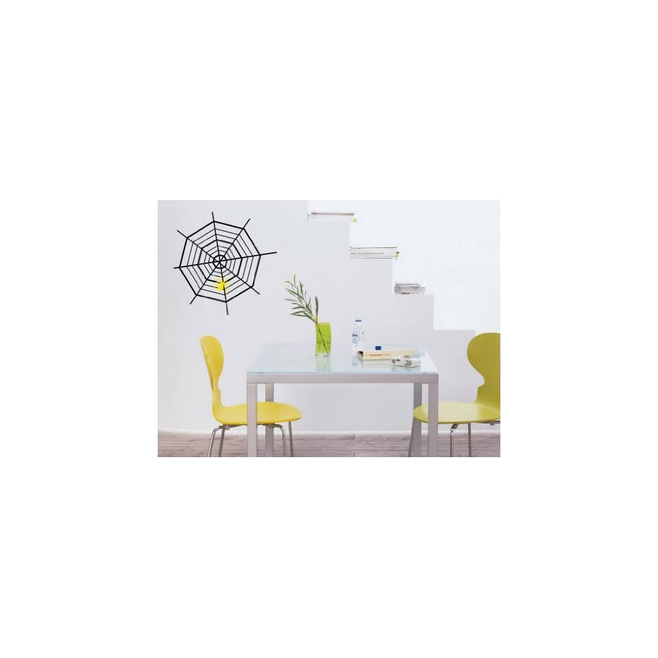 Vinyl Wall Decal Spider Web Art Design Sticker