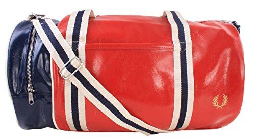 Fred Perry Classic Barrel Bag TARTAN RED Unica Taglia