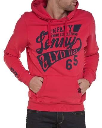 Lenny and loyd - Sweat homme à capuche tendance et fashion rouge - Couleur : Rouge Taille : XL