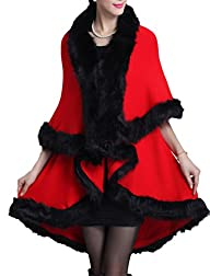 Helan Womens Faux Fox Fur Double Lay…