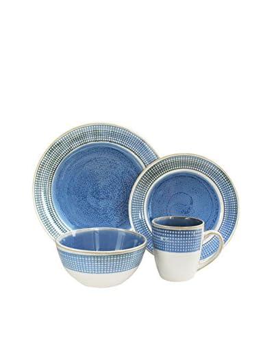 American Atelier Clara 16-Piece Dinnerware Set, Blue
