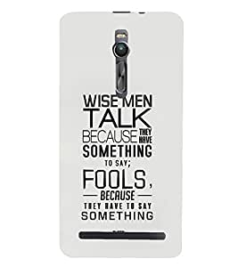 TOUCHNER (TN) Fools Back Case Cover for Asus Zenfone 2::Asus Znfone 2 ZE550ML
