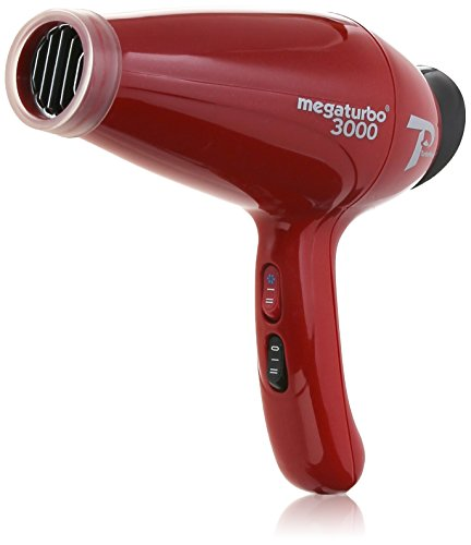Turbo Power Mega Turbo 3000 Hair Dryer, Red (Hair Dryer With Built In Comb compare prices)