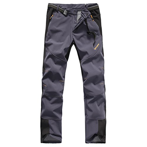 mens-waterproof-outdoor-softshell-pants-one-side-brush-polar-fleece-1501-dark-gray-medium