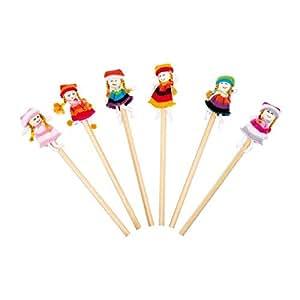 """Amazon.com: Pencils """"Chicas"""" (set of 6): Toys & Games"""