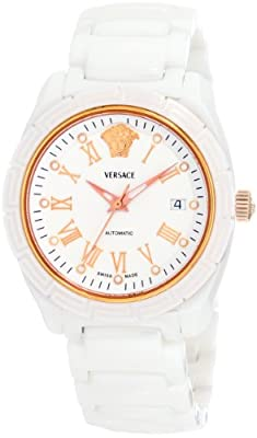Versace Women's 01AC1D001 SC01 DV One Automatic Rose-Gold Plated Watch