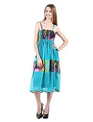 Selfiwear SW-550 Blue Beautiful Dress