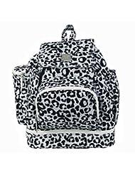 Kalencom Diaper Backpack Leopard Black And White