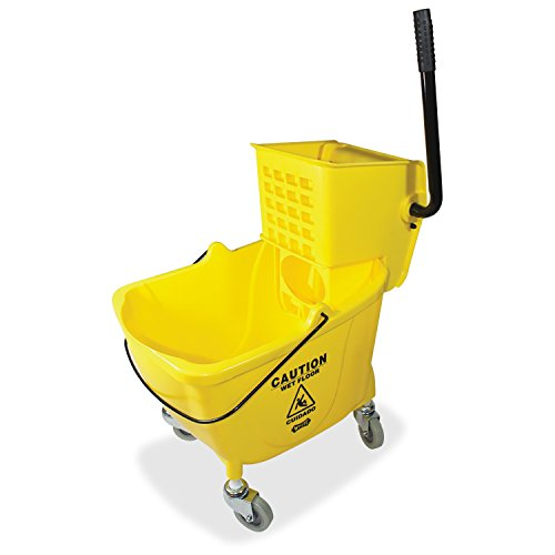 Genuine Joe GJO02347 Side Press Wringer Mop Bucket, Yellow (Side Press Bucket Wringer compare prices)
