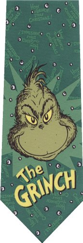 The Grinch Dr Seuss New Christmas On Green Novelty Tie