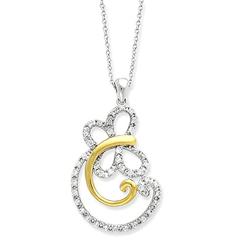 sterling-silver-gold-plated-cz-carefree-18in-collana
