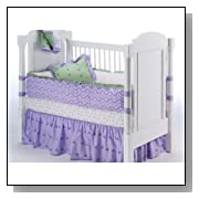 Summer Garden Lilac/green - 5 Pc Crib Bedding Set