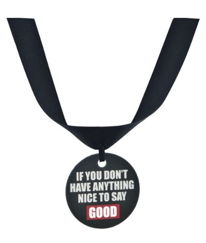 "Ganz Grumpy Cat Collar Accessory ""If You Don't Have Anything Nice to Say Good"""
