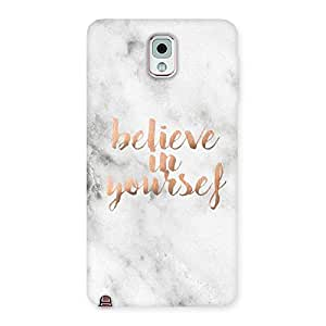 Believe Your Self Printed Back Case Cover for Galaxy Note 3
