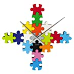 Wall Clock DIY Puzzle Multi Colour