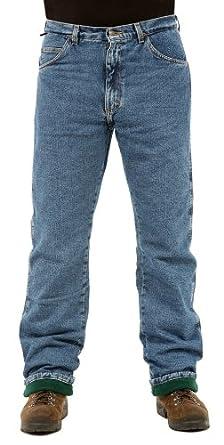 Wrangler Rugged Wear Men S Fleece Lined Jean Amazon Com