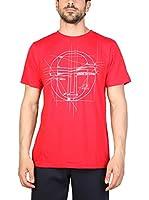 Sergio Tacchini Camiseta Manga Corta (Rojo)
